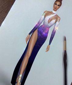 Dress Illustration, Fashion Illustration Dresses, Fashion Model Sketch, Fashion Design Sketches, Dance Dresses, Cute Dresses, Party Fashion, Fashion Art, Drag Queen Outfits