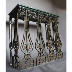 A steel, wrought iron and marble topped console table - Furniture - LASSCO - England's Prime Resource for Architectural Antiques, Salvage and Curiosities