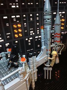 Film Star Wars, Star Wars Art, Lego Star Wars, Lego Engineering, Starwars, Lego People, Lego Construction, Lego Modular, Cool Lego Creations