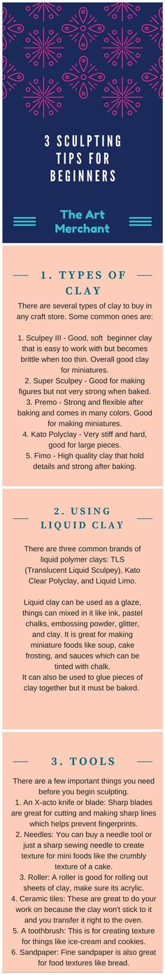 Here are some tips for beginners working with clay.