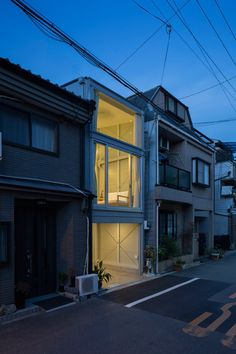 3.4-metre-wide home in Japan sandwiched between a pair of existing properties in Osaka.