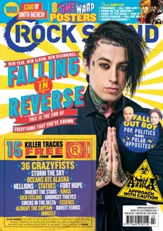 Get your digital subscription/issue of Rock Sound-March 2015 Magazine on Magzter and enjoy reading the Magazine on iPad, iPhone, Android devices and the web. Reverse Falls, Falling In Reverse, Im Coming Home, Black Veil Brides Andy, Rock Sound, Ronnie Radke, Man Games, Motionless In White, Bmth
