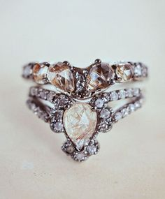 I am ever so slightly head over heels for this Immortalia by ManiaMania Ritual Solitaire Ring & Band. True love.