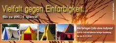 Vielfalt statt Einfarbigkeit – Alle farbigen Zelte ohne Aufpreis Tent, Outdoor Decor, Tent Camping, Cabin Tent, Tentsile Tent, Tents