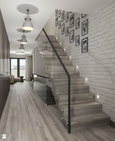 68 Inspirational Photos Of Modern Stairs Design Indoor Home Stairs Design, Home Interior Design, Stair Design, Modern Stairs Design, Interior Stairs, Style At Home, Glass Stairs, Stairs Window, Tile Stairs