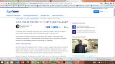 Who Needs Tickets? Is Ticket Scalping Legal?