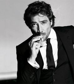 Javier Bardem...just born ridiculously sexy. Did you SEE Vicky Cristina Barcelona?