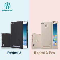 Nillkin frosted PC hard plastic case for xiaomi redmi 3 redmi 3 pro 5 inch back cover with Screen Protector for xiaomi redmi 3s