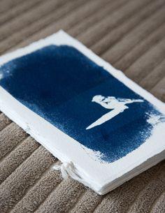 cyanotype handmade journal