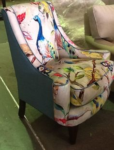 Stunning custom made feature chair! Love this fabric!