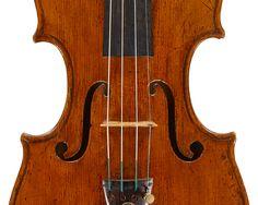 "ex-Richard Burgin, Concertmaster of the Boston Symphony Orchestra, 1920-1962 A GOOD ITALIAN VIOLIN BY ALESSANDRO GAGLIANO, NAPLES, c. 1723 Labeled, ""Alexander Gaglianus, Fecit Naap., 17..""  The head later Italian work.  LOB 35.1 cm"