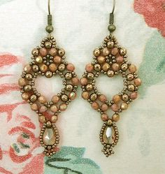 Linda's Crafty Inspirations: Princess Earrings - Rose Gold