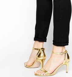 Barely There Heels | ASOS HEAD LIGHT Heeled Sandals ($54)