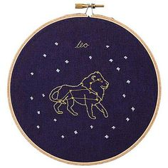 WHATS YOUR SIGN?  Stitched with love by artist Mia Weiner in her Brooklyn studio. Embroidered on linen and in wooden a hoop, a zodiac embroidery is the perfect gift for anyone (including yourself!).  Aquarius January 20 - February 18 Pisces February 19 - March 20 Aries March 21 -