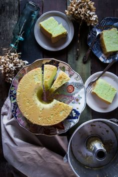Pandan Chiffon Cake. Soft cottony (like..seriously soft!)chiffon cake infused with the amazing flavor of pandan leaves or known as screwpine leaves is a big hit in Southeast Asia