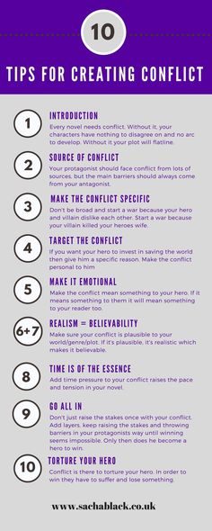 creative writing tips for authors. Conflict – the foundation of every novel bled onto the page. Without it, your book flatlines harder than the grim reaper. No self-respecting book doctor will even attempt to resuscitate it. Creative Writing Tips, Book Writing Tips, Writer Tips, Script Writing, Writing Process, Writing Resources, Writing Help, Writing Skills, Writing Prompts For Writers