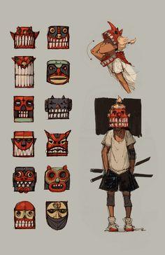tribal in city environment theme ArtStation - Jorden, Kenny Jeong: Character Creation, Game Character, Character Concept, Concept Art, Character Sheet, Animation, Character Illustration, Illustration Art, Posca Art