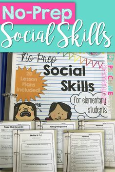 Teach feelings/emotions, politeness, initiating and maintaining conversation, and perspective taking, these worksheets may aid in carryover and a generalization of skills outside the classroom.