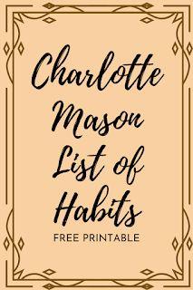 Charlotte Mason's List of Habits Homeschool Kindergarten, Preschool At Home, Homeschool Curriculum, Classical Education, Kids Education, List Of Habits, Study Habits, Charlotte Mason Curriculum, Home Schooling