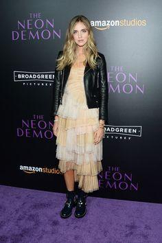 "Chiara Ferragni attends the premiere of Amazon's ""The Neon Demon"" on June 14, 2016 in Hollywood, California."
