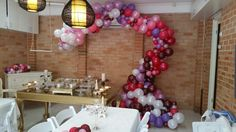 Custom sculpted balloon backdrop. Breathtaking