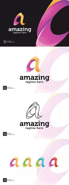 Amazing / Letter A - Logo Template AI, EPS