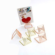 Table Name Number Holders Useful Wire Shape Place Card Holder Stands Paper Menu Picture Memo Note Photo Clip Holder Food Signs For Easy To Use