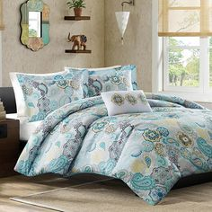 Showcasing a suzani medallion motif, this lovely comforter set brings a touch of exotic-inspired style to your guest room or master suite.