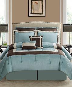 Look at this #zulilyfind! Teal Hotelier Comforter Set by Victoria Classics #zulilyfinds