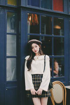 Korean Fashion Dress, Korean Outfits, Asian Fashion, Women's Fashion Dresses, Skirt Fashion, Trendy Outfits, Trendy Fashion, Girl Outfits, Fashion Looks