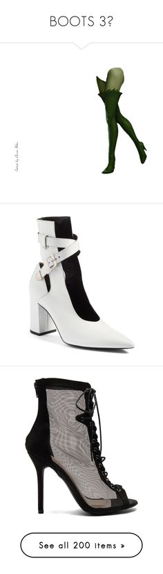 """""""BOOTS 3👢"""" by missk2blue ❤ liked on Polyvore featuring shoes, boots, ankle booties, white patent, cut out ankle booties, white booties, pointed toe booties, cutout ankle boots, cut-out booties and lace-up ankle booties"""