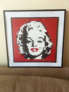 Marilyn Monroe portrait Hama beads by Cristina Merino - MerinosCrafts