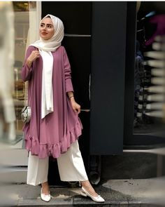 Real work done in real time ! Modern Hijab Fashion, Hijab Fashion Inspiration, Islamic Fashion, Abaya Fashion, Muslim Fashion, Modest Fashion, Fashion Outfits, Modest Wear, Modest Dresses