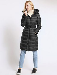 Padded & Quilted Coat with Stormwear™ Ladies Coats, Coats For Women, Winter Coats, Winter Jackets, Hoods, Berlin, Take That, Silhouette, Lady