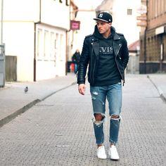 #Fashion #Menswear #Leather #Biker #Hipster #Streetwear #Hype #Menswear #Outfit #Style #Luxury //  Find similar pins at @damee1 [https://www.pinterest.com/damee1/]