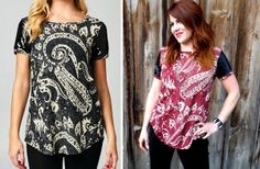 Gorgeous Paisley and Sequin top is perfect for work or play! On sale 1/29 - 1/31 on Groopdealz.com #GROOPDEALZ #SWEETLEMONBOUTIQUE