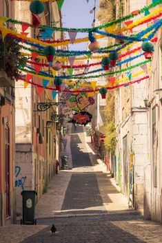Bairro Alto Lisbon Portugal - A typical street in the old quarter of Bairro Alto in Portugal's capital Lisbon. Decor Interior Design, Interior Decorating, Lisbon Portugal, All Over The World, My Photos, Old Things, Street, Designer, Creative