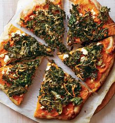 Sweet Potato and Kale Pizza: Recipes: Self.com