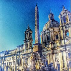 Piazza de Navona, Rome Drawing Ideas, Notre Dame, Barcelona Cathedral, Rome, Italy, Building, Travel, Construction, Voyage