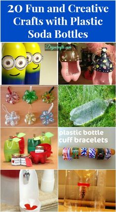 20 Ideas divertidas y creativas para reciclar las botellas de plástico. / 20 Fun and Creative Crafts with Plastic Soda Bottles – DIY & Crafts