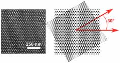 Moire superstructures created using block copolymers