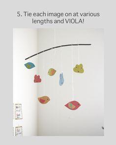 FREE printable DIY cloud and bird pendants