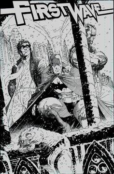 The Spirit, Batman and Doc Savage by Jim Lee
