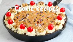 Instant Oatmeal Cookies, Oatmeal Breakfast Cookies, Breakfast Cookie Recipe, Healthy Oatmeal Cookies, Cookie Recipes, Skillet Chocolate Chip Cookie, Skillet Cookie, Chocolate Chip Cookies, Valentines Day Cookie Recipe