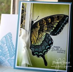Swallowtail Birthday CARD by Studio M - Cards and Paper Crafts at Splitcoaststampers