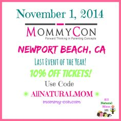 10% off MommyCon Tickets!