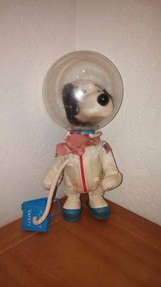 Vintage Snoopy Astronaut 1969 Peanuts Space Toy GREAT CO