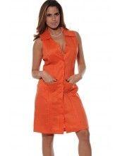 Ladies Guayabera Dress no sleeve. Li