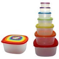Rainbow Storage Containers 7pk