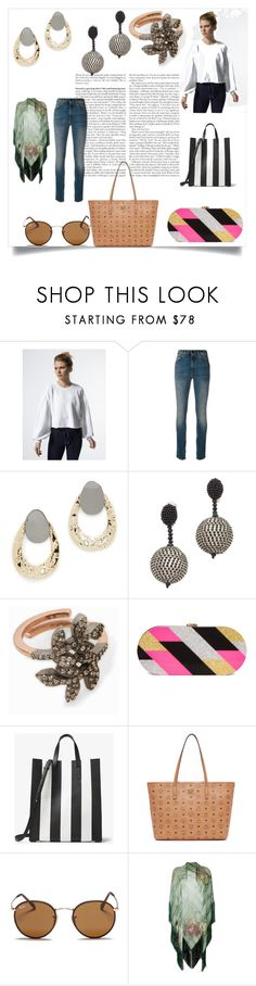 """fashion ring"" by kristeen9 ❤ liked on Polyvore featuring Free People, Yves Saint Laurent, Alexis Bittar, Oscar de la Renta, MAHA LOZI, Milly, Michael Kors, MCM, Ray-Ban and Alberta Ferretti"